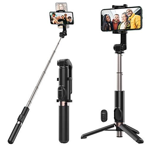 Yoozon 1.2m Max. Selfie Stick Stativ mit Fernbedienung, 3 in 1 Ausziehbar Monopod, 360°Rotation kabellos Selfie Stange horizontal Vertikal kompakt für alle 3.5-6' Handy Smartphone