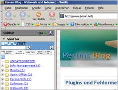 Sidebar in Mozilla