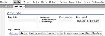 WP 1.5 - statische Seiten