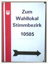 Wahllokal in Köln-Deutz