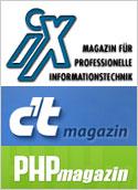 iX, c't und PHP-Magazin
