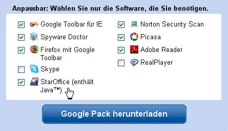 Google vertreibt StarOffice