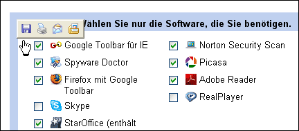 Toolbar von IE6