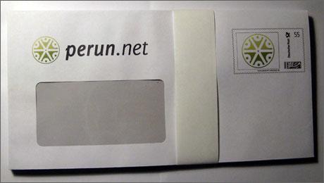 Peruns Briefumschlag
