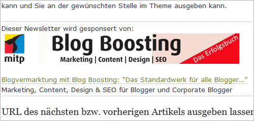 Werbung im WordPress-Newsletter