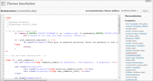 Code mit Syntaxhighlighting