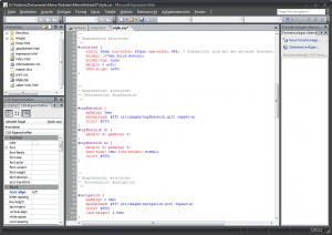 Expression Web 2: Code-Ansicht