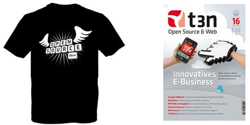 OpenSource-Gewinnspiel: 3x T-Shirt und 3x das Magazin
