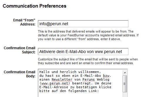 Die Bestätigungs-E-Mail