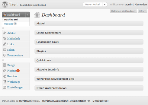 Das neue Admin-Farbschema in WordPress 3.0