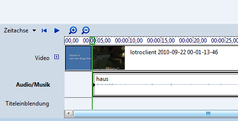 Windows Vista: Movie Maker und die Zeitachse