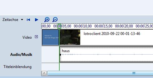 Windows Vista: Movie Maker und die Zeitachse