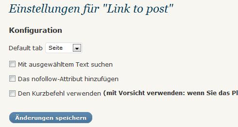 WordPress: Link to Post Einstellungen