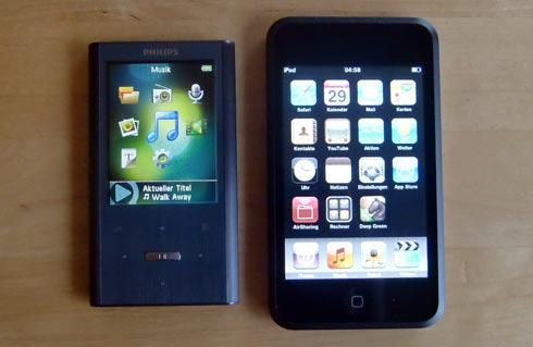 GoGear Ariaz und iPod touch