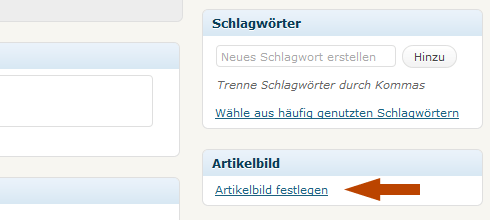 WordPress: Artikelbild festlegen