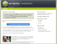WordPress-Newsletter-Website