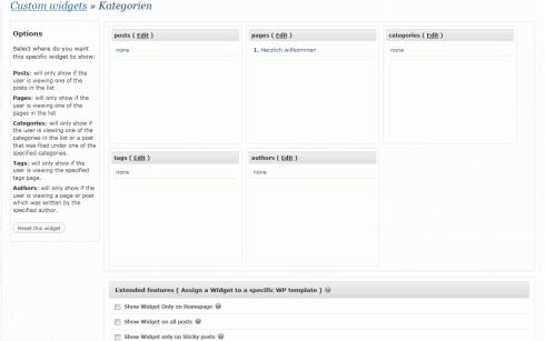 WordPress: Custom widgets