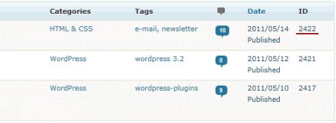 WordPress: IDs im Backend anzeigen lassen