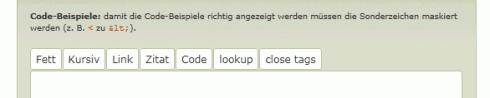 WordPress: Quicktags im Kommentarbereich