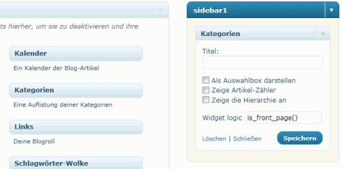 WordPress: Widget Logic