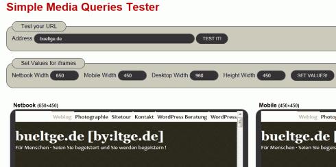 Simple Media Queries Tester