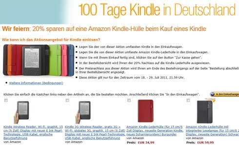 Amazon Kindle seit 100 Tagen in Deutschland