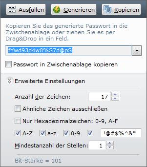 Passwort-Generator von RoboForm