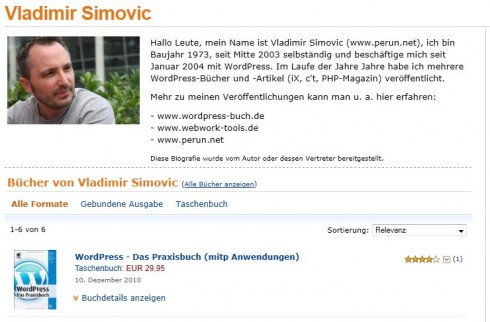 Vladimir Simovic auf Amazon.de