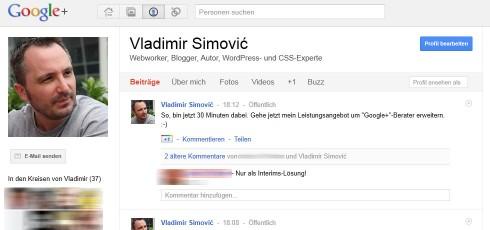 Vladimir Simovic auf Google+