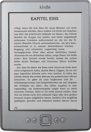 Amazon Kindle mit deutscher Menüführung