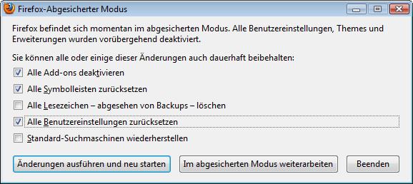 Firefox Reparieren