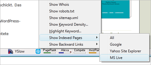 Mozilla Firefox: SearchStatus