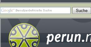 Die Suchfunktion von perun.net