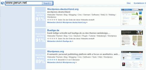 similarsites.com im Einsatz