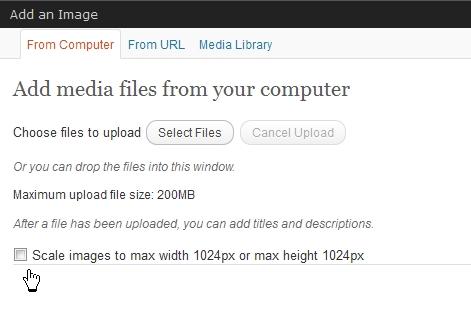 WordPress 3.3: Bilder skalieren