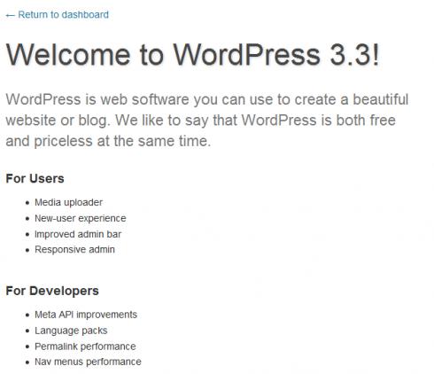 Infos zur aktuellen WordPress-Version