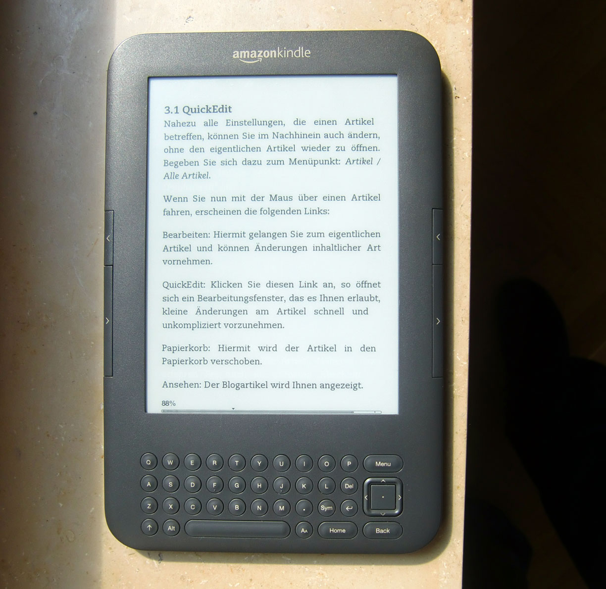 what e-book layout does kindle use