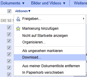 Google Docs: Backup aller Dateien