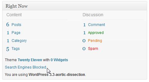 WordPress-Hinweis: Suchmaschinen werden blockiert