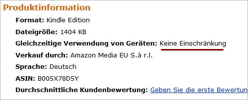 Amazon: E-Books ohne Kopierschutz