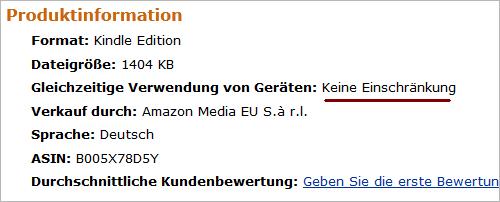 Amazon: E-Books ohne Kopierschutz