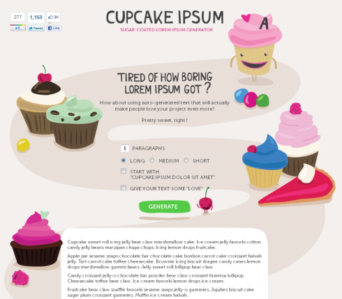 Cupcake Ipsum