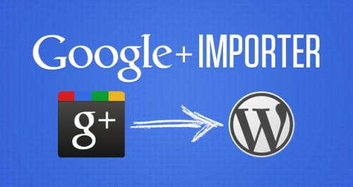 Google+ Importer