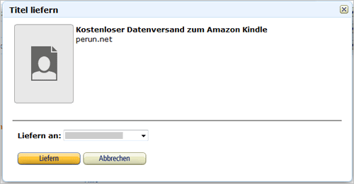 Amazon Kindle: persönliche Dokumente in der Cloud