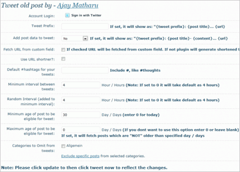 WordPress: Tweet Old Post
