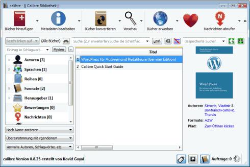 calibre: Kindle-E-Book umwandeln