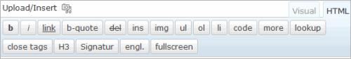 WordPress: die neuen Quicktags im HTML-Editor