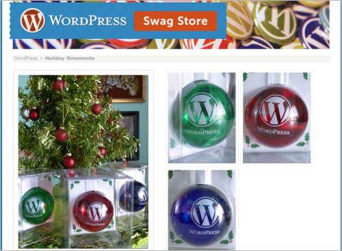 WordPress-Christbaumkugeln