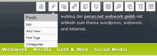 WordPress Helper: Admin-Toolbar im Einsatz