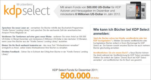 Amazon: KDP Select